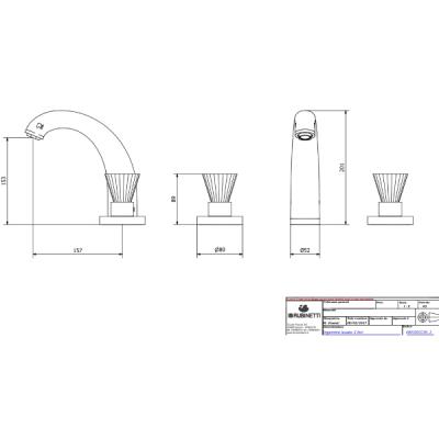 IB Rubinetterie Birkin смеситель для раковины на изделие BR390_3