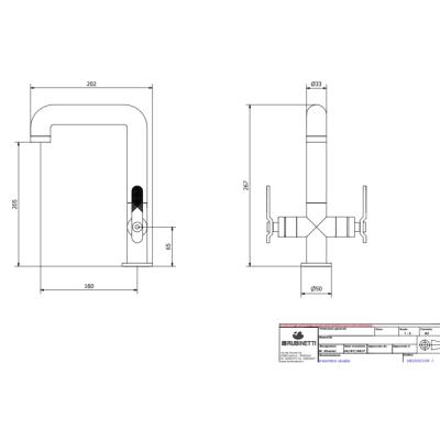 IB Rubinetterie Bold Lever смеситель для раковины на изделие KB2205
