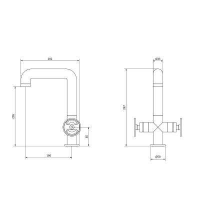 IB Rubinetterie Bold Round Смеситель для раковины на изделие KB1205