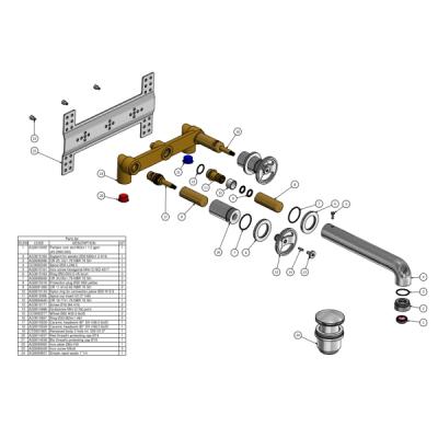 IB Rubinetterie Bold Round смеситель для раковины настенный KB1306