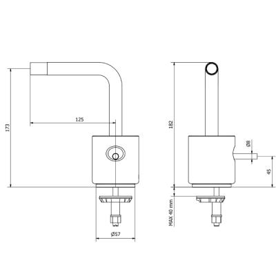 IB Rubinetterie Marmo L Смеситель для раковины на изделие MM220_1
