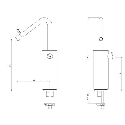 IB Rubinetterie Marmo Смеситель для раковины настенный MR306_1