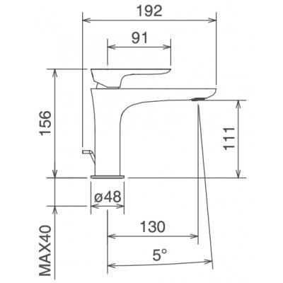 LaTorre Laghi Смеситель для раковины на изделие 44001 CS