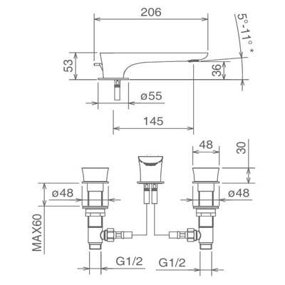 LaTorre Laghi Смеситель для раковины на изделие 44801