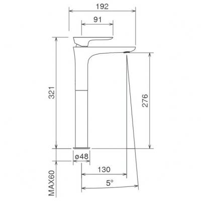 LaTorre Laghi смеситель для раковины на изделие 44501TC BC белый хром