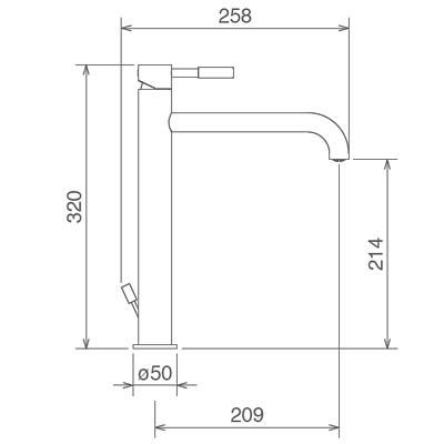 LaTorre Newtech Смеситель для раковины на изделие 12507 TC