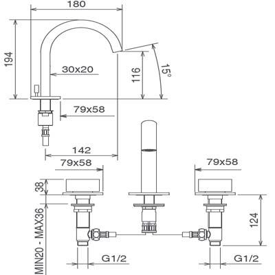 LaTorre Ovaline Смеситель для раковины на изделие 26803