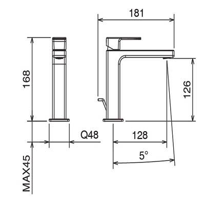 LaTorre Profili Смеситель для раковины на изделие 45001 CS