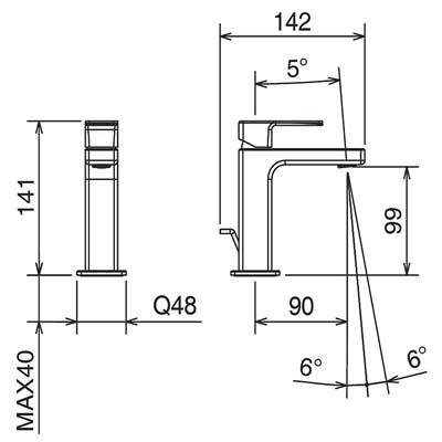 LaTorre Profili Смеситель для раковины на изделие 45003 CS