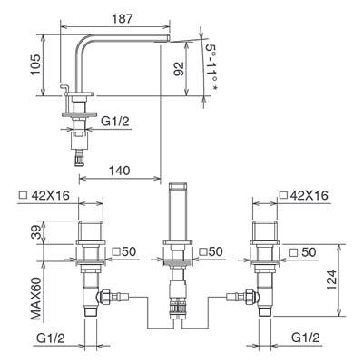 LaTorre Profili Смеситель для раковины на изделие 45801 JA