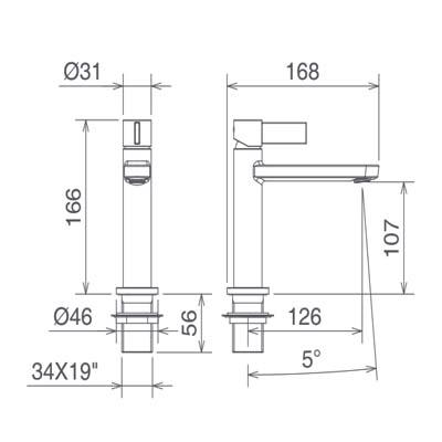 LaTorre Taya Top Смеситель для раковины на изделие 41001CS Хром