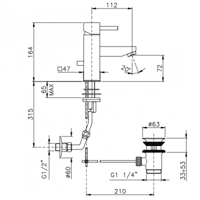 Nicolazzi Antelao Смеситель для раковины на изделие 3802CR