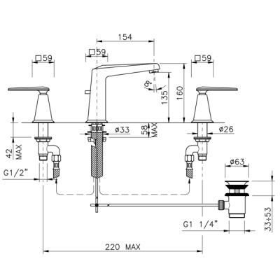 Nicolazzi Vincent Смеситель для раковины на изделие 1008CR28