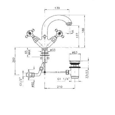 Nicolazzi Le Pietre смеситель для раковины на изделие 3410GO20