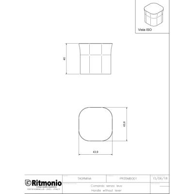 Ritmonio Taormina смеситель для раковины на изделие PR35AP201+PR35MB001