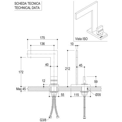 Ritmonio Tetris смеситель для раковины на изделие P0BA5015
