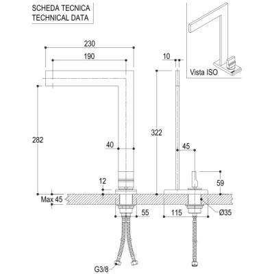 Ritmonio Tetris смеситель для раковины на изделие P0BA5085