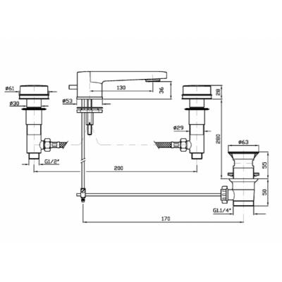 Zucchetti Savoir смеситель для раковины на изделие ZSV401.CN