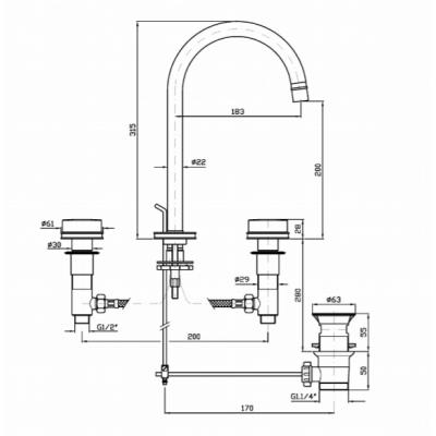 Zucchetti Savoir смеситель для раковины на изделие ZSV402.CN