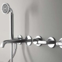 Fantini Icona Deco Смеситель для ванны настенный R119B+44 00 R119A цвет хром