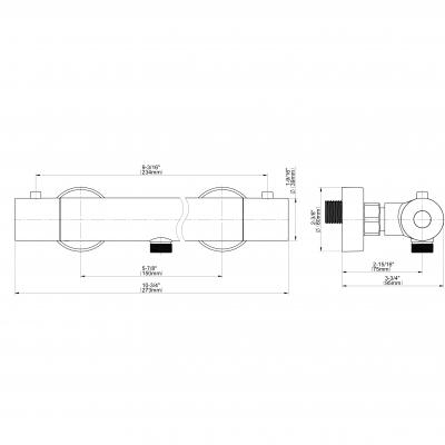 Graff Aqua-Sense Термостатический смеситель для душа настенный 5322300