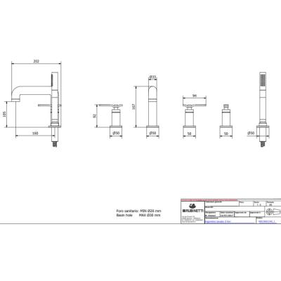 IB Rubinetterie Bold Lever смеситель для ванны на изделие KB2396
