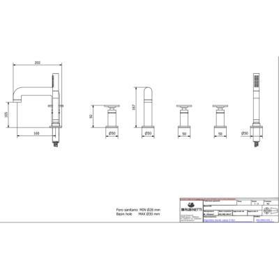 IB Rubinetterie Bold Round смеситель для ванны на изделие KB1396