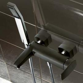 LaTorre Studio Смеситель для ванны настенный 31019 BM черный хром