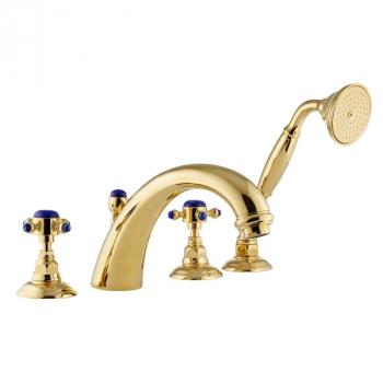 Nicolazzi Le Pietre смеситель для ванны с душем на изделие 2104GB09 цвет золото