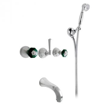 Nicolazzi Teide Chic смеситель для ванны с душем настенный 1903CR15C