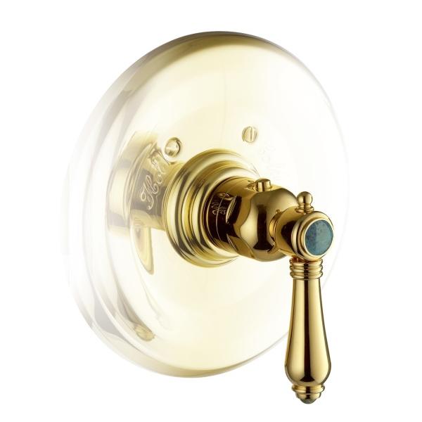 Nicolazzi Thermostatico смеситель для душа настенный 4914GB09+4913 цвет золото