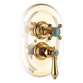 Nicolazzi Thermostatico смеситель для душа настенный 4909GB09+4910 цвет золото