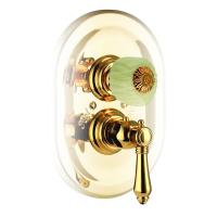 Nicolazzi Thermostatico смеситель для душа настенный 4909GB09O+4910 цвет золото