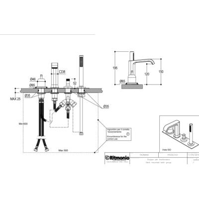 Ritmonio Taormina смеситель для ванны на изделие PR35ES101+PR35MC001