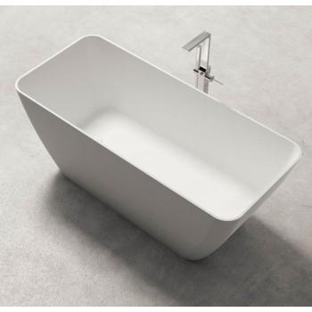 BluBlue Bahia ванна из искусственного камня отдельностоящая 159х70,5 см. белая матовая