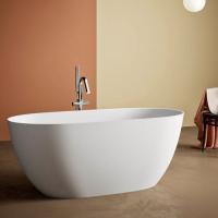 BluBlue Botero ванна из искусственного камня отдельностоящая 160х74 см. белая матовая