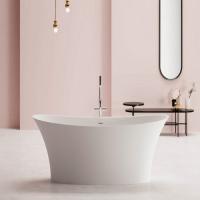 BluBlue Madras ванна из искусственного камня отдельностоящая 170х78,6 см. белая матовая
