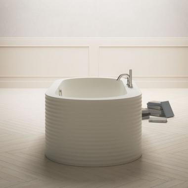 BluBlue OneWeek акриловая ванна отдельностоящая  184*84 см. белая матовая