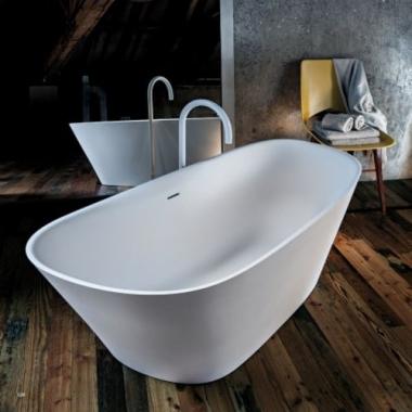 Falper Level 45 ванна из искусственного камня отдельностоящая 170x74 см. белая матовая