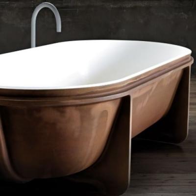 Falper Controstampo ванна из искусственного камня отдельностоящая 178x88 см. белая матовая