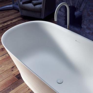 Falper Handmade ванна из искусственного камня отдельностоящая 170x80 см. белая матовая
