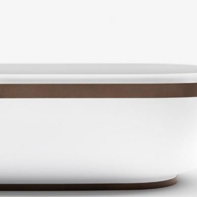 Falper Homey ванна из искусственного камня отдельностоящая 170x77 см. белая матовая