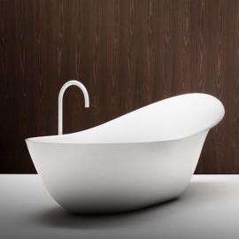 Falper Lancetta ванна из искусственного камня отдельностоящая 190х101 см. белая матовая