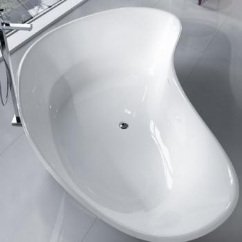 Falper Level 45 King Size ванна из искусственного камня отдельностоящая 222x154 см. белая глянцевая