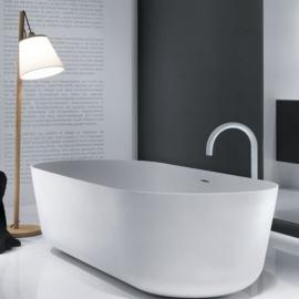 Falper Quattro.Zero ванна из искусственного камня отдельностоящая 170x52 см. белая матовая