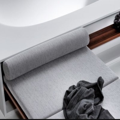 Falper Vascamisura ванна из искусственного камня отдельностоящая 210x105 см. с деревянной скамьей 115x80 см. Cat.1