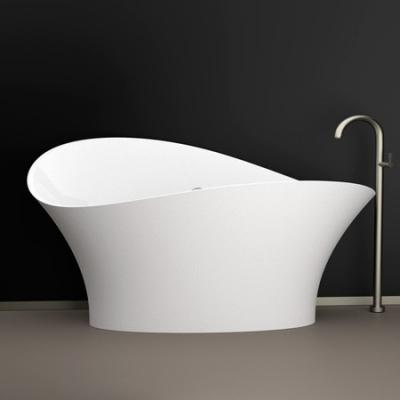 Акриловая ванна Glass Design - Flower Style Ferrari red / white gloss