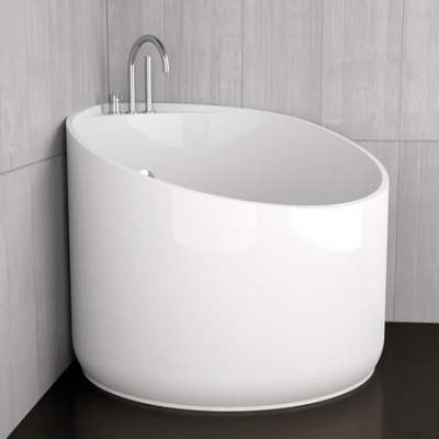 Glass Design Mini акриловая ванна 114x95 см. отделка black mat / white gloss