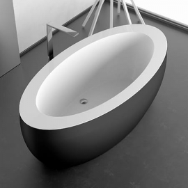 Акриловая ванна Glass Design - Paradiso black mat / white gloss