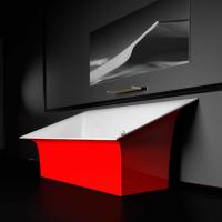 Glass Design Roma Style акриловая ванна 180x88 см. отделка Ferrari red / white gloss